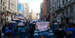Los sindicatos cifran en un 90% el seguimiento de la huelga de técnicos de Telefónica